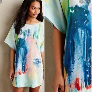 Anthropologie | Maeve Silk Painted Tunic Dress